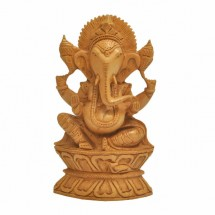 Ganesh in Vajrasana wood
