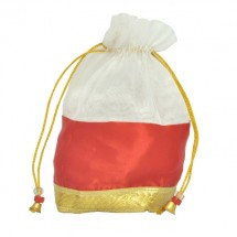 White Orange Tissue Bag With Jari